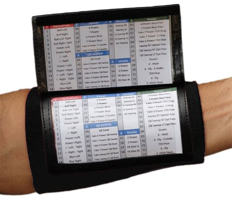 wrist coach playbook wristband youthsportsplanscom