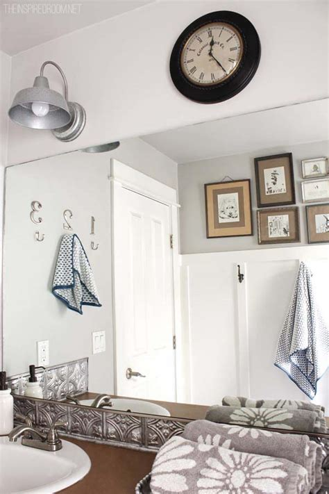Easy Bathroom Makeovers by Bathroom Makeover Diy Weekend Refresh The Inspired Room