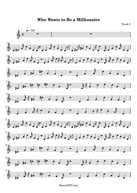 theme music who wants to be a millionaire who wants to be a millionaire sheet music who wants to
