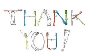dental thank you card ink digital color 171 april