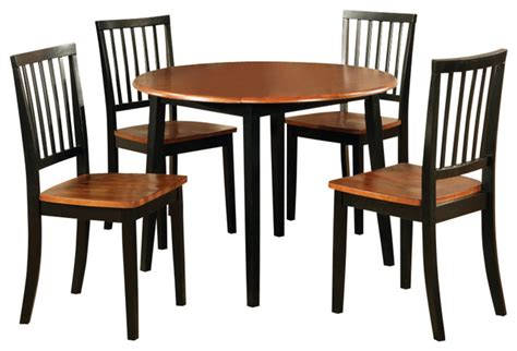 42 Inch Dining Room Table Steve Silver Branson 5 Drop Leaf 42 Inch Dining Room Set In B Contemporary