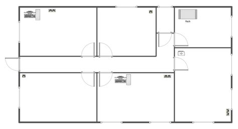 Floor Plan Templates by Network Layout Floor Plans Solution Conceptdraw Com