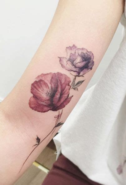 36 stunning watercolor flower tattoos tatueringar