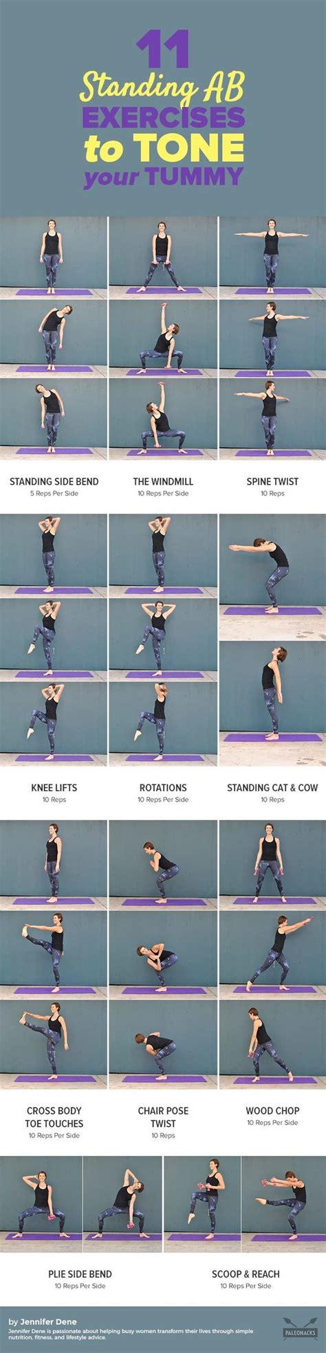 standing ab exercises  flatten  tummy