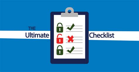check network the ultimate network security checklist