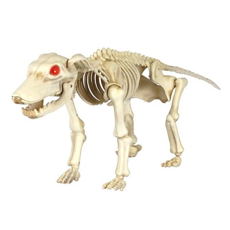 home accents holiday   animated skeleton dog  led