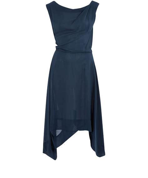 navy drape dress vivienne westwood anglomania navy aztec drape dress in