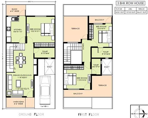 narrow row house floor plans search row house plan