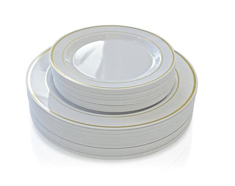 Ideas For Kitchen Tables white plastic plates with gold rim to taste themes
