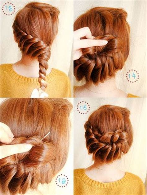 braids updo for short hairstep by step step by step hairstyles for short hair