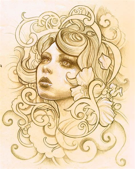 female face tattoo designs design 2 by illogan on deviantart