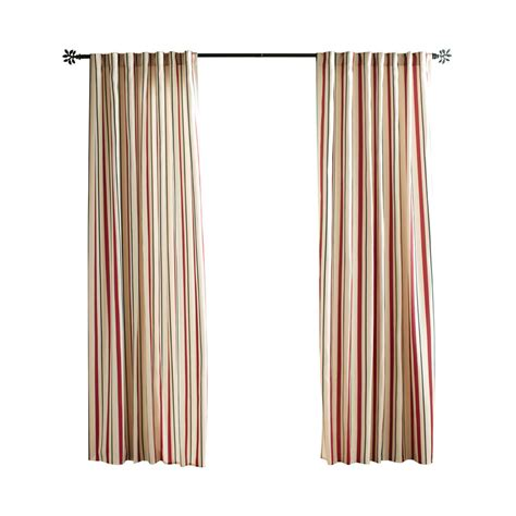 Solaris Outdoor Curtains Shop Solaris Cabana Stripe 96 In Polyester Back Tab Light Filtering Single Curtain Panel At