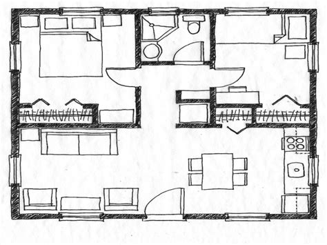 Bedroom House Plans by Two Bedroom Houses Inside Outside Two Bedroom House Simple