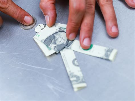 How To Make Origami Out Of Money - 3 ways to make a money using origami wikihow