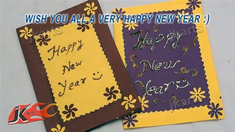 diy punch craft new year greeting card school project for jk arts 116