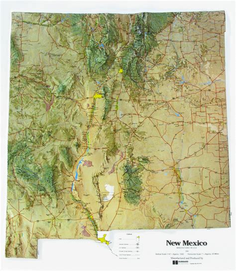 new mexico maps new mexico state raised relief map