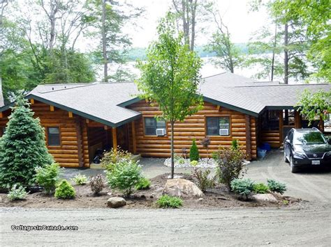 luxury log retreat parry sound cottage rental di 12081