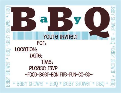 Bbq Baby Shower Invitations Templates Free by Baby Shower Invitations Couples Baby Shower Bbq