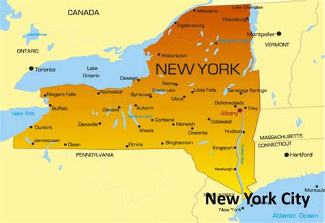 the map of new york city new york map america