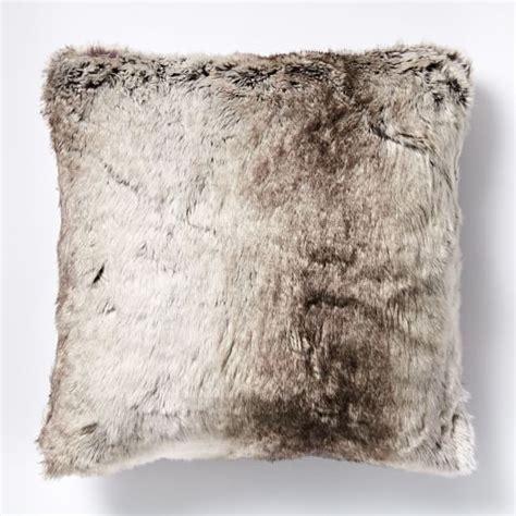 Fur Pillow Cover by Faux Fur Ombre Pillow Cover Mocha West Elm