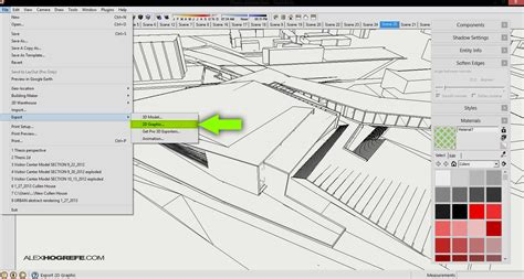 sketchup layout export autocad digital quilling visualizing architecture