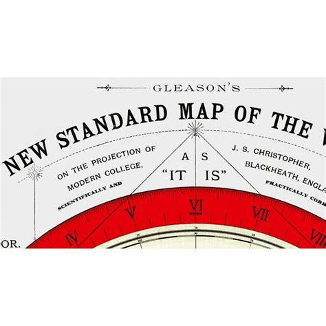standard map flat earth map gleason s new standard map of the world