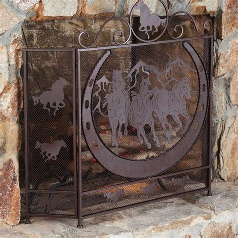 western horseshoe fireplace screen home wish list