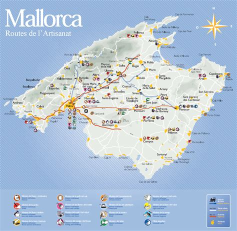 0004488962 carte touristique ibiza and carte touristique de majorque photo du monde