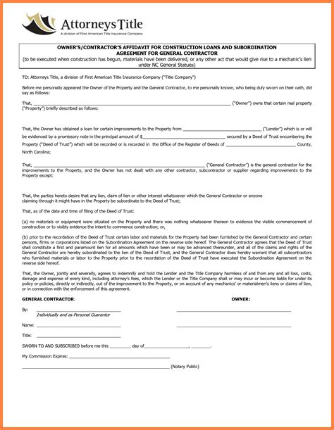7 Contractor Contract Template Marital Settlements Information Photo Contract Template