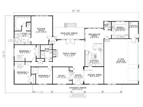 House Floor Plan House Plans 1000 Images About House On Country House Stunning