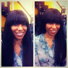 bang wraps with weave hair on pinterest k michelle brandy norwood and sanaa