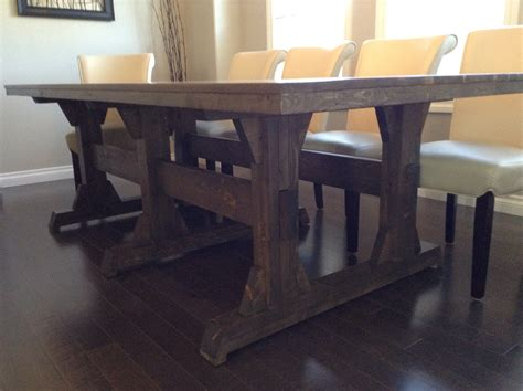 farmhouse dining room tables white leave it to pedestal wide farmhouse table diy projects