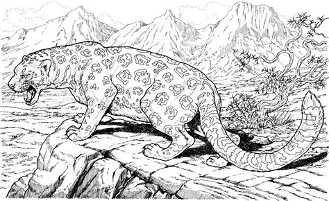 coloring pages for adults difficult animals coloring pages free large images