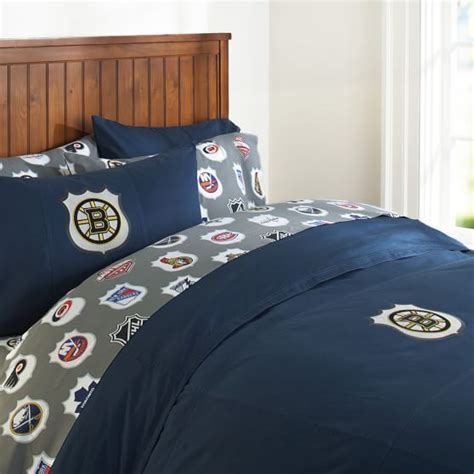 hockey bedding nhl 169 patch duvet cover pbteen
