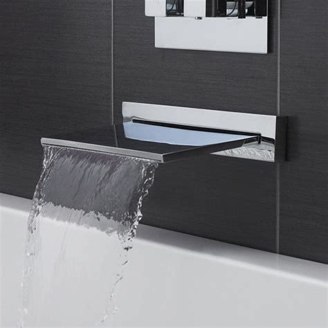 modern wall mount tub filler contemporary waterfall tub filler bathroom faucet deck