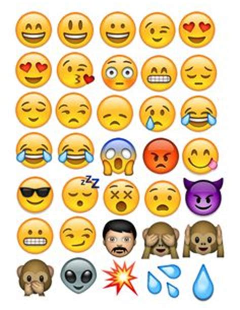 small printable emojis emoji stickers instant download print smiley emoticons by