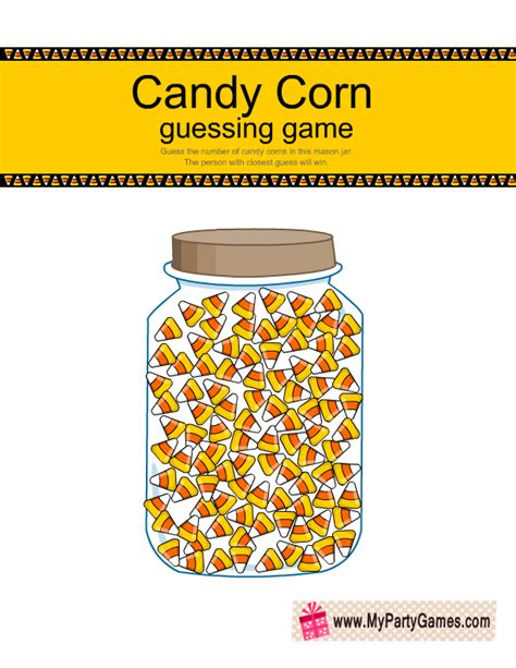 guess my number printable cards free printable how many candy corns are in the jar game