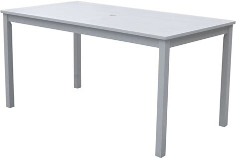 white patio table vifah bradley rectangular white outdoor dining table