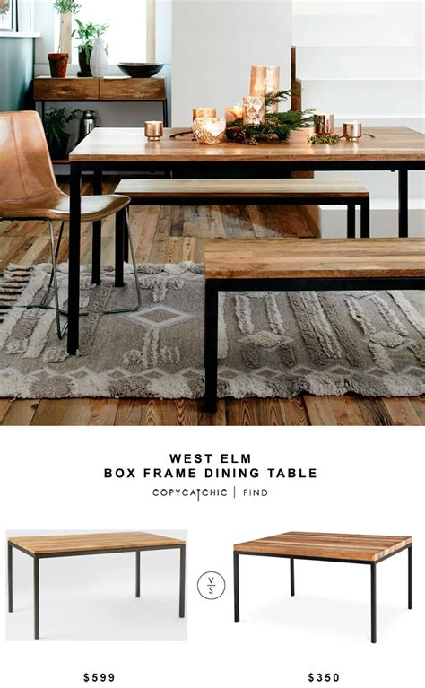 west elm dining room table west elm box frame dining table copycatchic