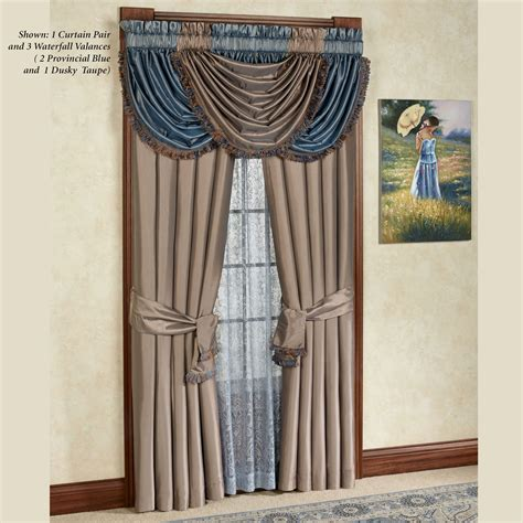waterfall valance curtains curtains with waterfall valance decorate the house with