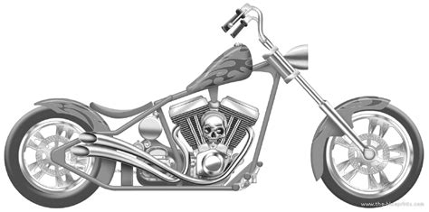 Custom Motorcycle Drawing Harley Davidson Crusader