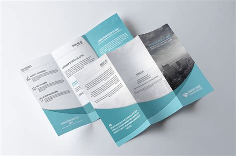 double sided tri fold brochure template 6 best agenda