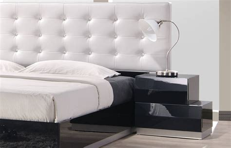 milan modern bedroom set exquisite leather modern master beds with storage cases