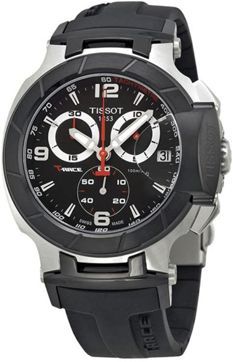 Tissot T Race T0484172705700 Black Silver tissot t race s black rubber band t0484172705700 review and buy in riyadh