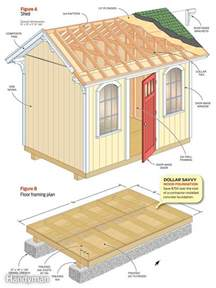 floor plans for sheds how to build a cheap storage shed the family handyman
