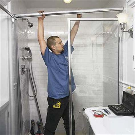 Install A Shower Door Ways By Which Your Shower Door Installation Could Be Done Bath Decors