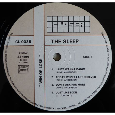 Lp Nap win or lose by the sleep lp with ouioui14 ref 118225231
