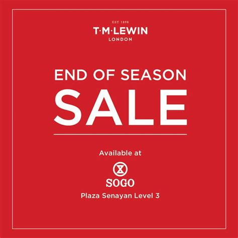 Jas Di Sogo tm lewin sogo department store end of season sale gebyar