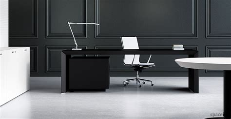 Black Desk Office Office Desks Ceo Desk Black Leather