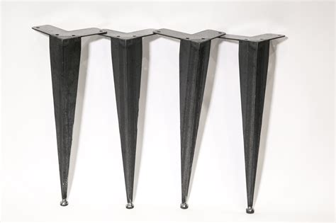 angle iron table legs tapered angle iron table legs modern legs